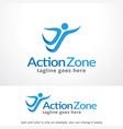action zone logo template design vector image