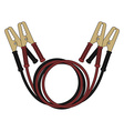 Car jumper power cables Color vector image