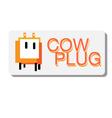 cow plug logo vector image