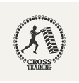 Cross Training man silhouet logo vector image