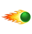 Flaming bowling ball vector image