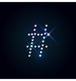 Gems symbol Shiny diamond font vector image