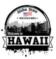 hawaii stamp vector image