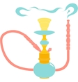 Hookah color on white background vector image