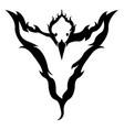 Isolated phoenix icon vector image
