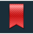 Isolated red bookmark vector image