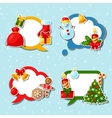 Merry Christmas and Happy New Year sticker speech vector image