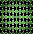 Seamless harlequin pattern-green and black vector image