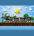 train on a background of sunshine vector image