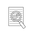 Preparation business contract linear icon vector image vector image