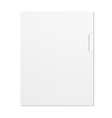 White modern Design template vector image vector image