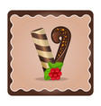 letter v candies chocolate vector image