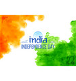 abstract tricolor indian flag watercolor vector image