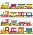 Cartoon trains vector image vector image
