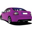 pink sedan vector image vector image