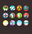 Textured Flat Icons for mobile and web Set 3 vector image vector image