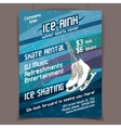 Ice rink advertising poster vector image