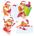 sexy santa girl vector image