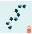 Cat paw icon isolated vector image