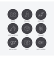 Pregnancy pediatrics and family planning icons vector image