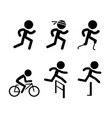 running icons and symbol in design vector image
