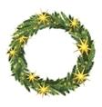 Christmas wreath template vector image