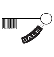 Barcode as a key and sale label vector image