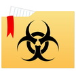 File folder with bio hazard sign vector image vector image