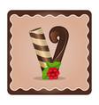 letter v candies vector image