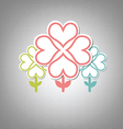 heart tree symbol vector image vector image