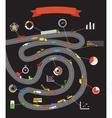 Transportation scheme with infographoc elements vector