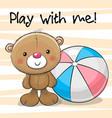 cute bear with a ball vector image vector image