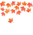 border from falling maple leaves autumn vector image