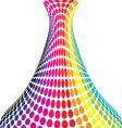 Rainbow vase vector image