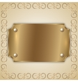 abstract precious metal golden award plate vector image