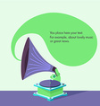 bright flat old gramophone in eps vector image