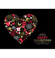Valentines day greeting card vintage icon love vector image vector image