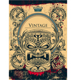vintage background with totem vector image