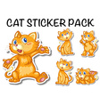 Cute cat sticker pack vector image vector image