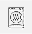 dryer hand drawn sketch icon vector image