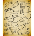 Grunge banner drawings vector image