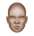 imaginary human face isolated three-dimensional vector image