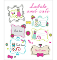 Labels and cats vector image