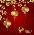 Oriental Card for Chinese New Year 2017 vector image
