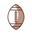 shadow american football ball cartoon vector image