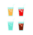 soda drinks simple flat vector image