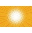 The sun comic book retro pop art background vector image