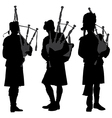 Bagpiper Silhouette vector image vector image