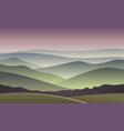 sunrise  blurred mountain background vector image