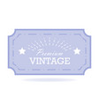 vintage label design template for you logo vector image